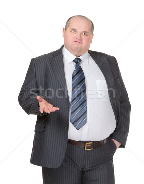 Obese businessman making a point Stock photo © Discovod
