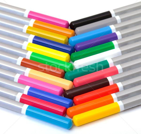 Kalem beyaz arka plan grup Stok fotoğraf © Discovod