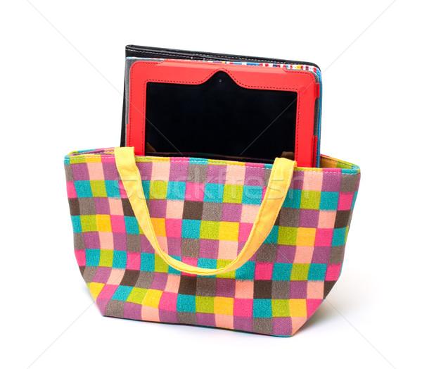 活気のある 布 女性 ハンドバッグ 白 ストックフォト © Discovod