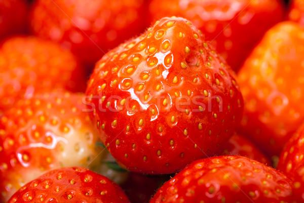 新鮮な イチゴ クローズアップ 食品 イチゴ 甘い ストックフォト © Discovod