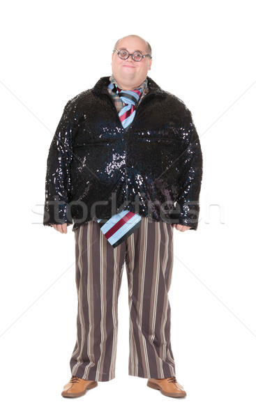 Obese man with an outrageous fashion sense Stock photo © Discovod