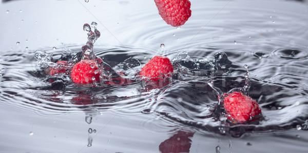 赤 ラズベリー クローズアップ 波 ドロップ ストックフォト © Discovod