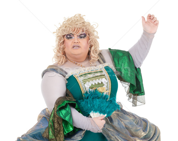 Drag queen in vintage dress Stock photo © Discovod