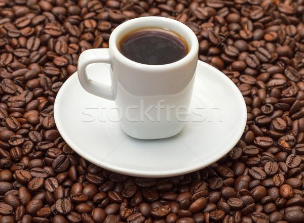 Кубок горячей кофе кофе пить пластина Сток-фото © Discovod