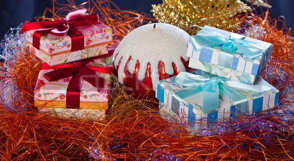 クリスマス 写真 クローズアップ キャンドル 金 ストックフォト © Discovod