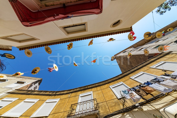 City Streets Decorated with Straw Hats Stock photo © Discovod