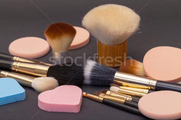Maquillage sombre beauté blanche cosmétiques Photo stock © Discovod