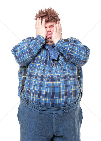 Overweight obese country yokel Stock photo © Discovod