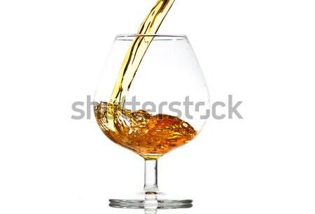 充填 ガラス ブランデー クローズアップ パーティ 波 ストックフォト © Discovod