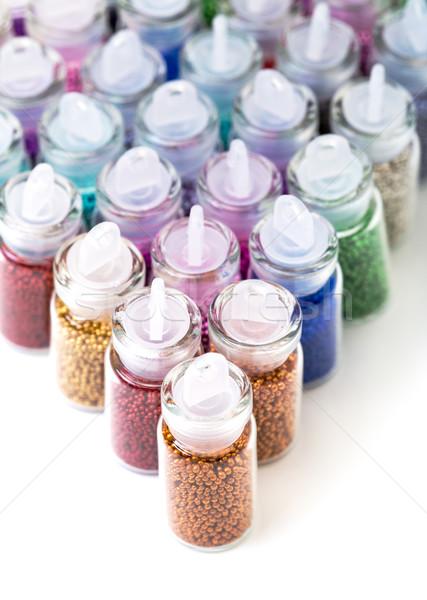 Pequeno vidro pérola garrafa Foto stock © Discovod