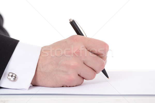 Businessman taking notes Stock photo © Discovod