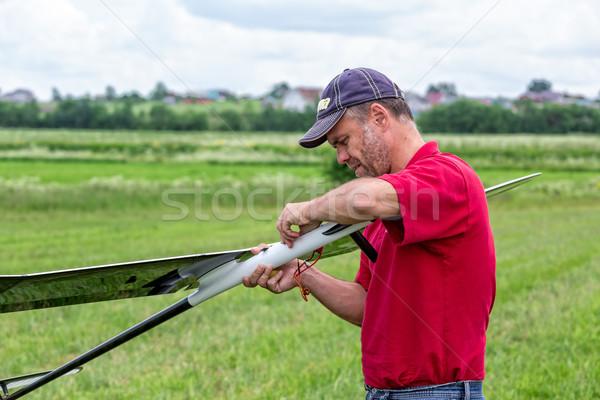 男 楽しい 速度 フライ エンジン 空気 ストックフォト © Discovod