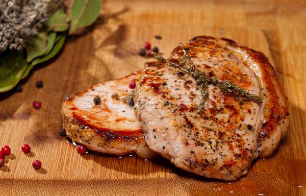 Grelhado bife jantar cozinhar Foto stock © Discovod
