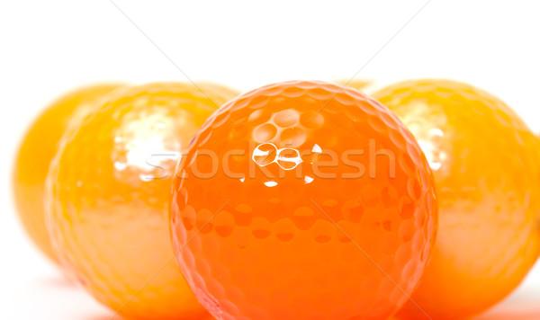 оранжевый гольф белый текстуры Сток-фото © Discovod