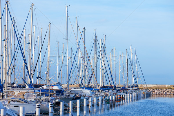 Yachts moored in a marina Stock photo © Discovod