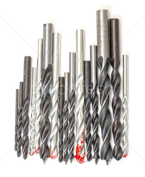 Stok fotoğraf: Ayarlamak · matkap · arka · plan · Metal · çelik · mekanik