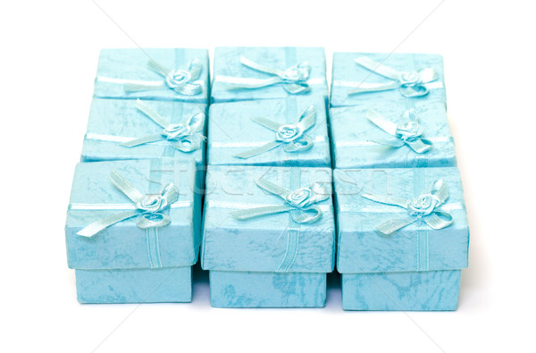 Cyan gift boxes Stock photo © Discovod