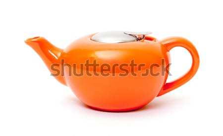 оранжевый керамической чайник белый чай банка Сток-фото © Discovod