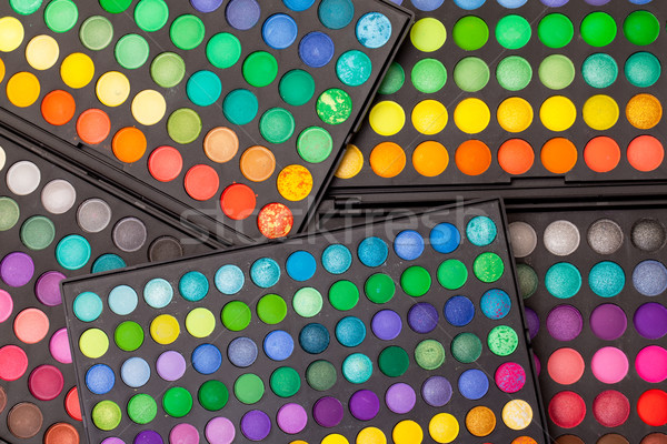 Szett tarka narancs doboz kék csoport Stock fotó © Discovod