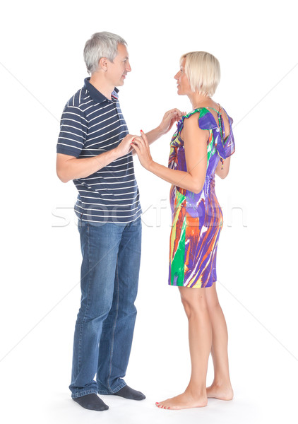 Modern trendy affectionate mature couple Stock photo © Discovod