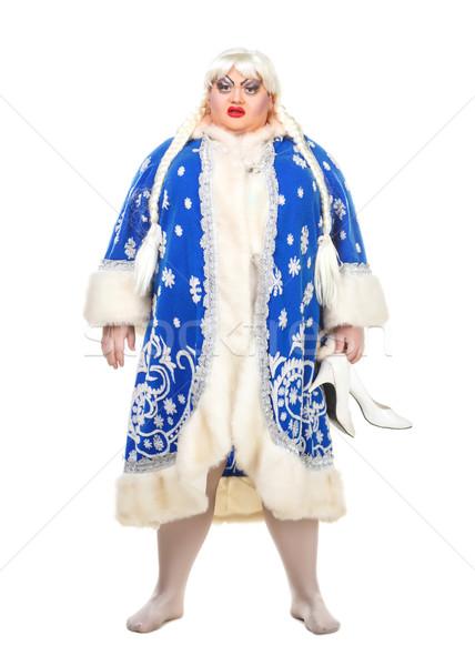 актер снега белый фон обувь Сток-фото © Discovod