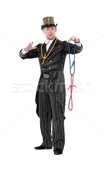 Illusionist Shows Tricks with a Rope Stock photo © Discovod