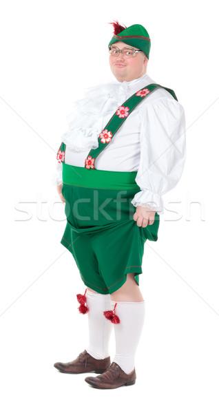 Funny grubas ubrania tradycyjny odizolowany Zdjęcia stock © Discovod