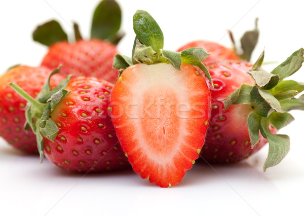 Fraises blanche alimentaire fruits fond Photo stock © Discovod