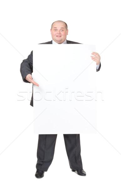 Alegre excesso de peso homem elegante homem de negócios Foto stock © Discovod