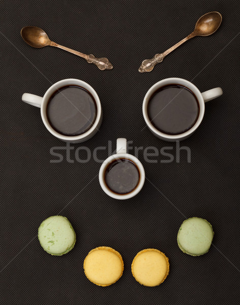 árvore café cara feliz preto cara Foto stock © Discovod
