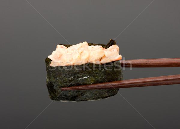 суши палочки для еды изолированный серый ресторан Бар Сток-фото © Discovod