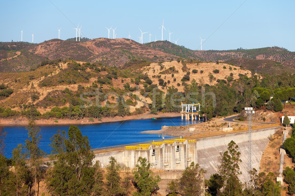 Large dam on the river Stock photo © Discovod