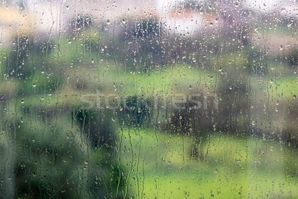 Szkła zamazany wody tekstury okno Zdjęcia stock © Discovod
