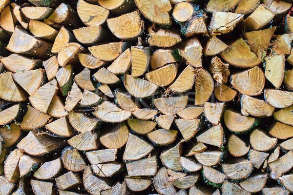 Gehakt brandhout textuur muur milieu Stockfoto © Discovod
