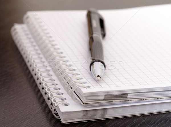 black pen and notebook Stock photo © Discovod