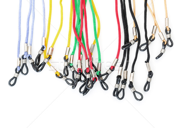 Stock photo: Colorful Cords with a Loops for Eyeglasses