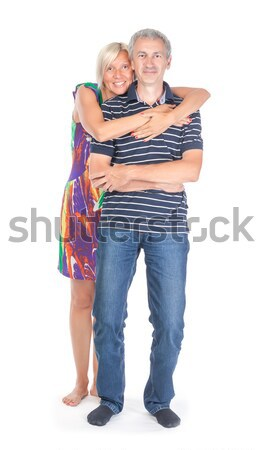 Affectionate middle-aged couple Stock photo © Discovod