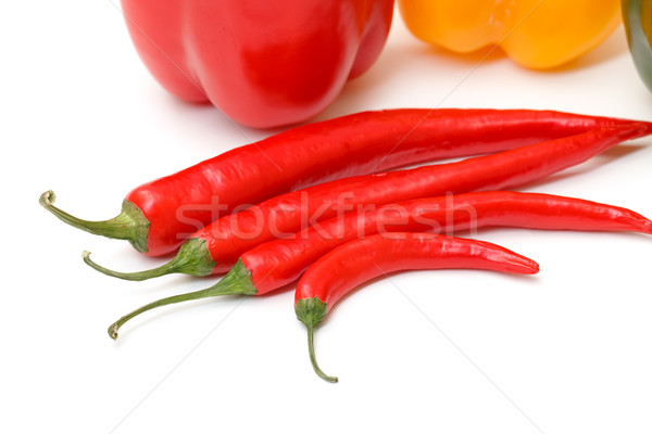 Chili pepper and paprika Stock photo © Discovod