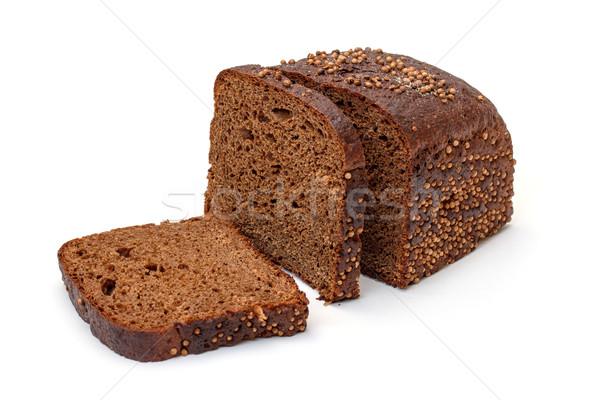 Szeletel rozs kenyér fehér vacsora reggeli Stock fotó © Discovod