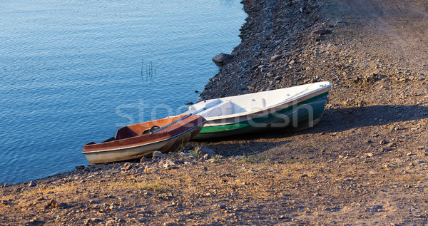 Parking of boats on the seashore Stock photo © Discovod