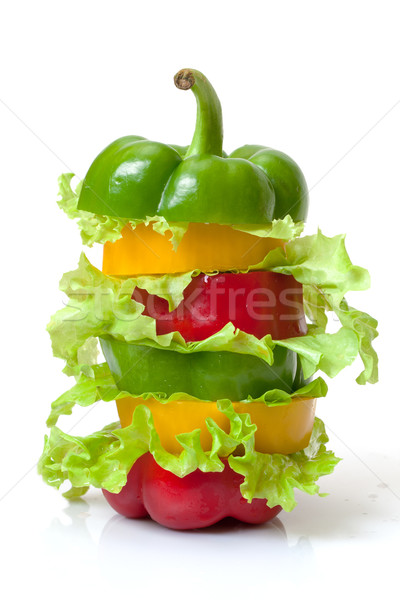 Mixed Bell Pepper with Lettuce Stock photo © Discovod