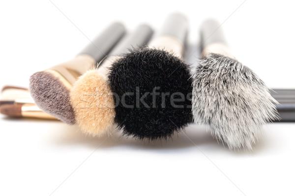 Sminkecset szett fehér nő arc haj Stock fotó © Discovod