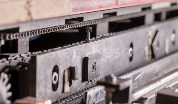Közelkép ipari gép absztrakt technológia fém Stock fotó © Discovod