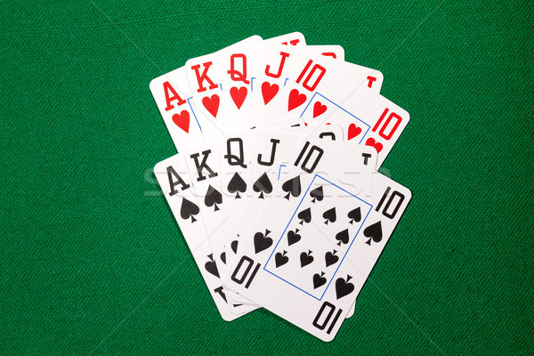 Poker cards with royal flush combination Stock photo © Discovod