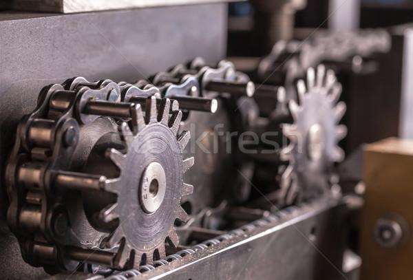 Industrial máquina abstrato tecnologia metal Foto stock © Discovod