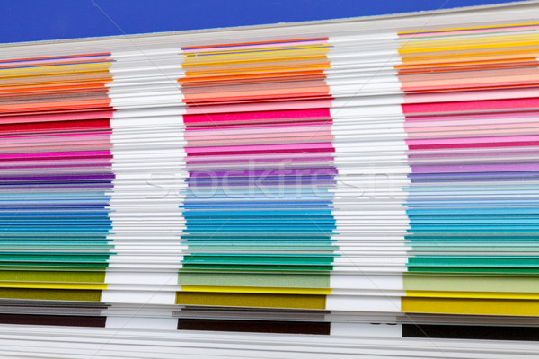 Color Guide Swatch, closeup Stock photo © Discovod