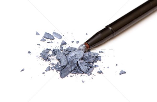 Sombra de ojos foto blanco primer plano belleza azul Foto stock © Discovod