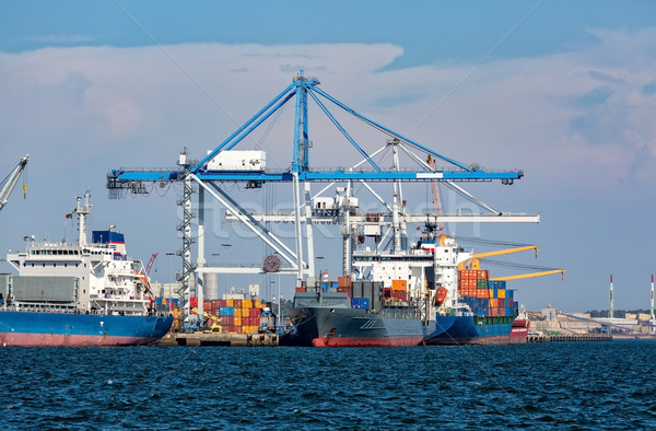 Cargo Sea Port with Cranes Stock photo © Discovod