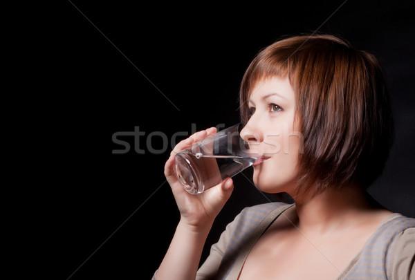 Сток-фото: стекла · воды · черный · стороны · лице