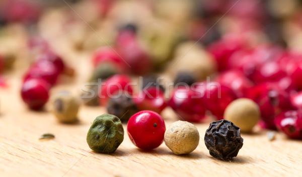 Drogen veelkleurig peperkorrel houten groene Stockfoto © Discovod